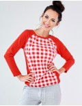 Vichy red blouse