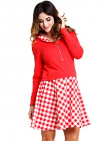 Vichy red tunic