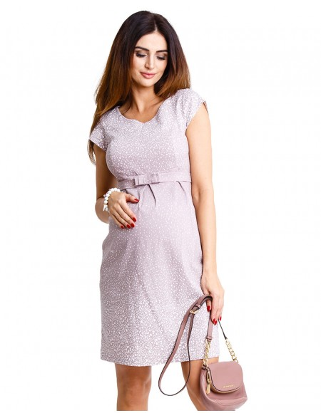 Icy moon beige dress