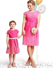 Icy moon berry baby dress