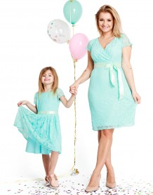 Lovely mint baby dress
