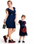 Lovely navy baby dress