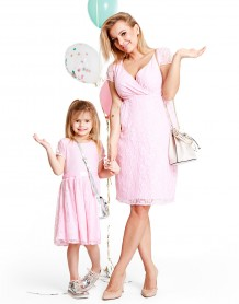 Lovely pudre baby dress